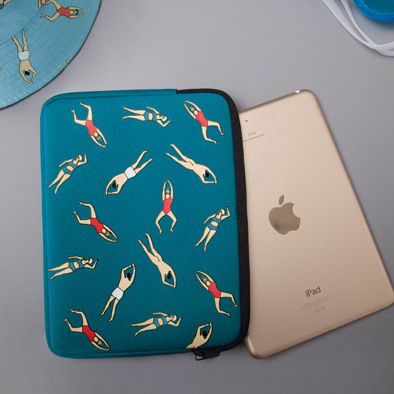 Sleeve with fall girl or swimming people pattern for  Apple iPad Mini 1, iPad Mini 2, iPad Mini 3, iPad Mini 4
