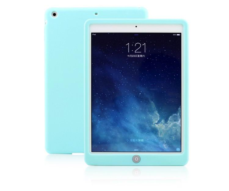 Soft silicone multicolor protective cover for iPad 2, iPad 3, iPad 4, iPad Mini 1, iPad Mini 2, iPad Mini 3, iPad Mini 4, iPad Air 1, iPad Air 2, iPad Pro 9.7 inch