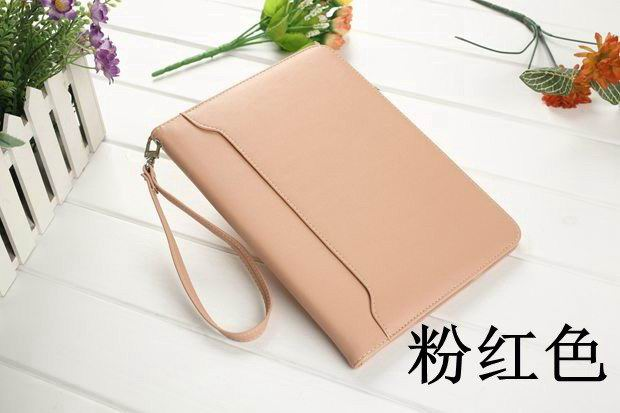 galaxy tab a 10 1 2016 business leather case with wrist loop pink: