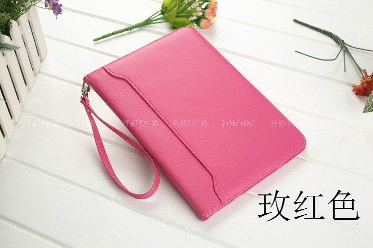 galaxy tab a 10 1 2016 business leather case with wrist loop rose red: