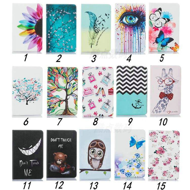 galaxy tab a 10 1 2016 case with bright butterflies flowers trees and other pictures
