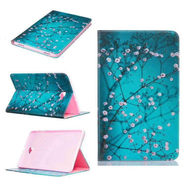 galaxy tab a 10 1 2016 case with bright butterflies flowers trees and other pictures Pattern 2: