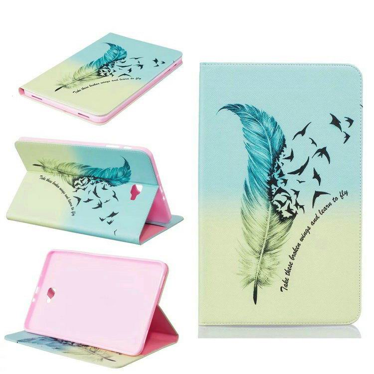 galaxy tab a 10 1 2016 case with bright butterflies flowers trees and other pictures Pattern 3: