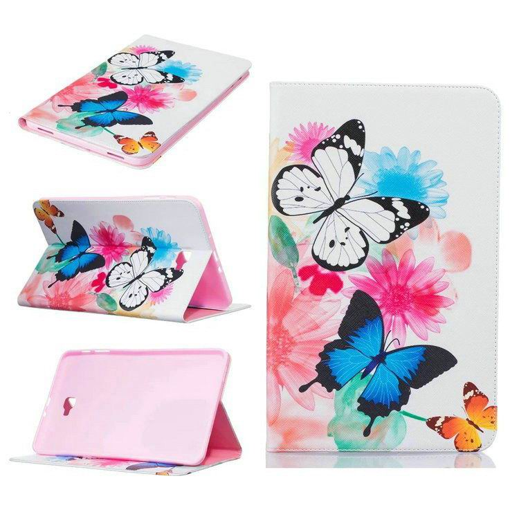 galaxy tab a 10 1 2016 case with bright butterflies flowers trees and other pictures Pattern 5: