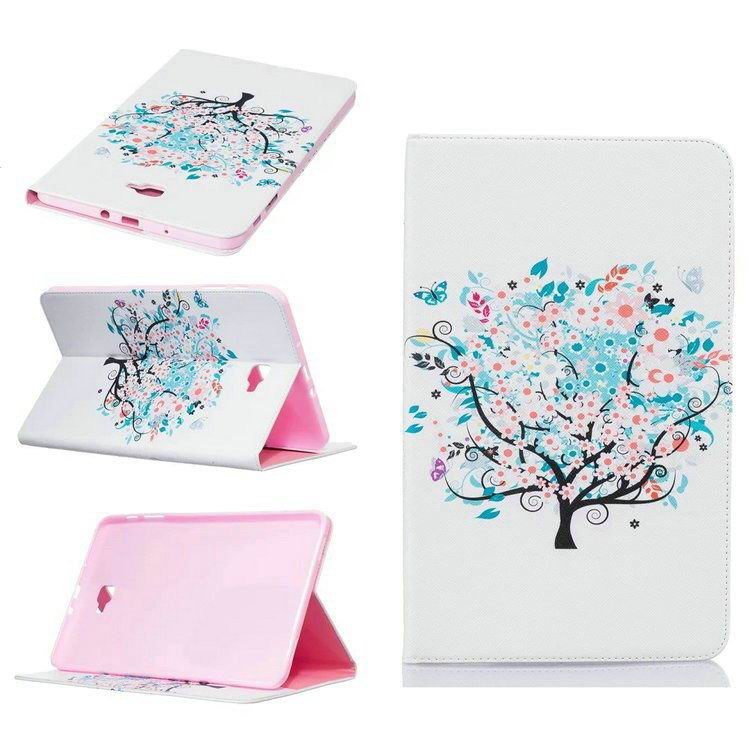 galaxy tab a 10 1 2016 case with bright butterflies flowers trees and other pictures Pattern 6: