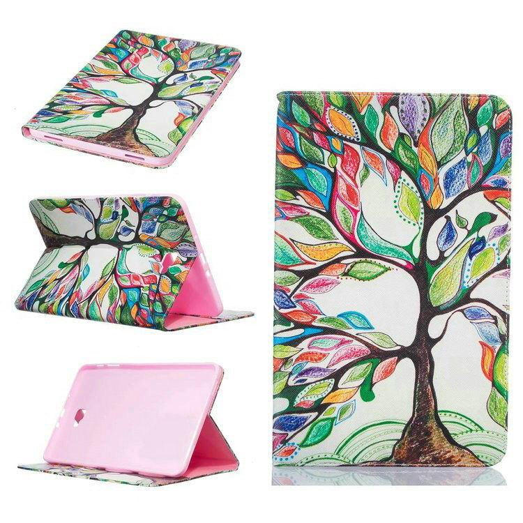 galaxy tab a 10 1 2016 case with bright butterflies flowers trees and other pictures Pattern 7: