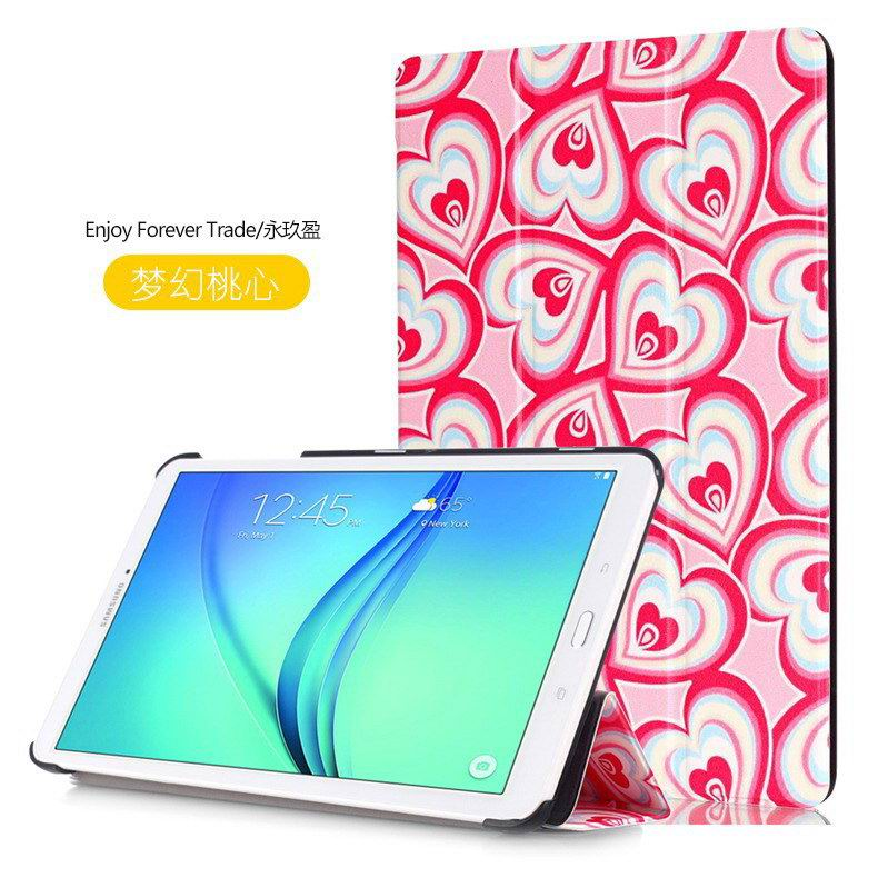galaxy tab e 8 0 case with bright pattern pictures of eiffel tower tree hearts and other Dream sweetheart:
