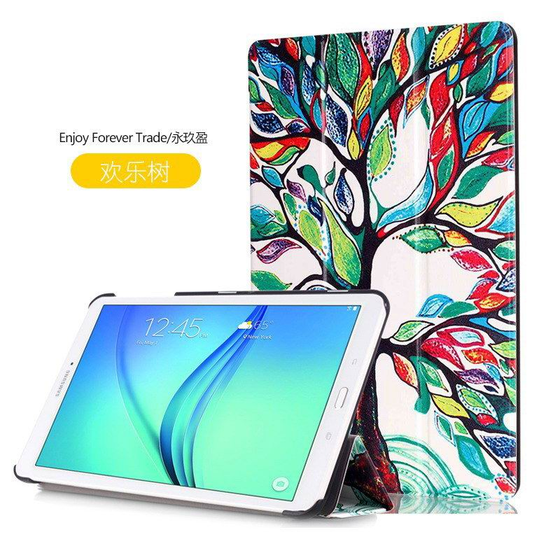 galaxy tab e 8 0 case with bright pattern pictures of eiffel tower tree hearts and other Joy tree: