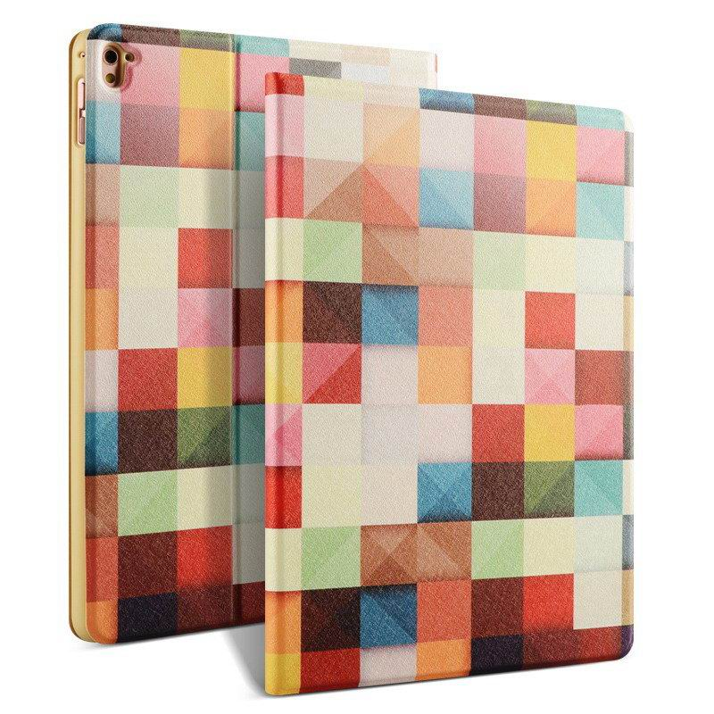 ipad pro 9 inch case with bright pictures of dog monkey flowers eiffel tower and other Dynamic grid: