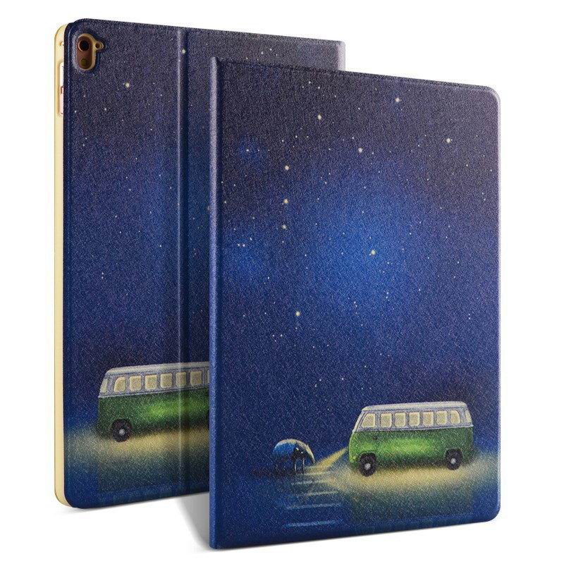 ipad pro 9 inch case with bright pictures of dog monkey flowers eiffel tower and other Sky bus: