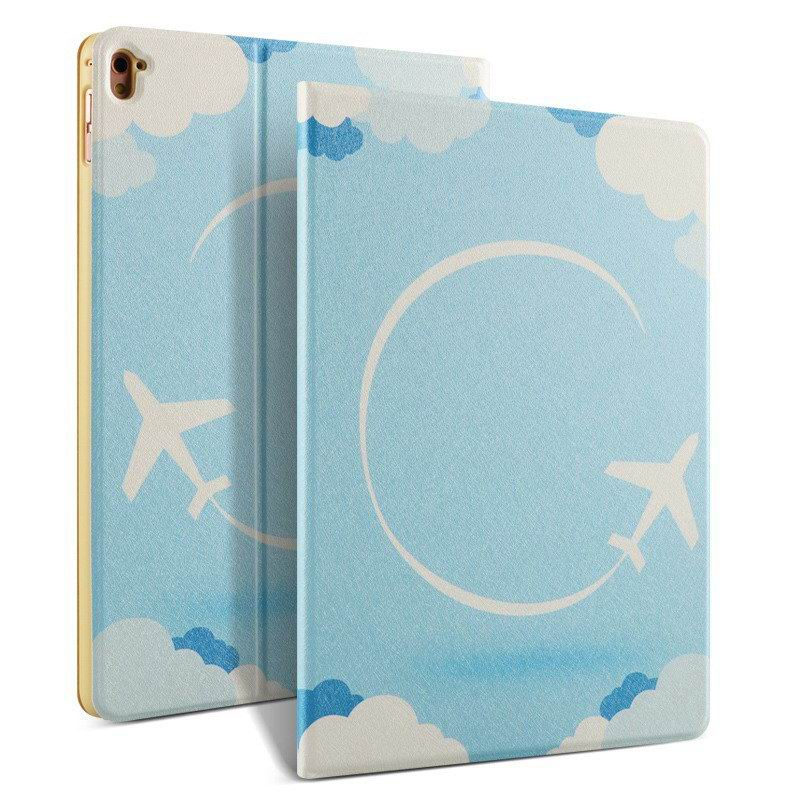 ipad pro 9 inch case with bright pictures of dog monkey flowers eiffel tower and other Aircraft: