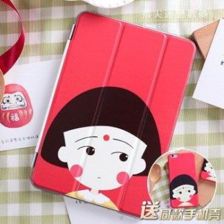 Cute case with pictures of girl. heart, fish and other for iPad Mini 1, iPad Mini 2, iPad Mini 3, iPad Mini 4
