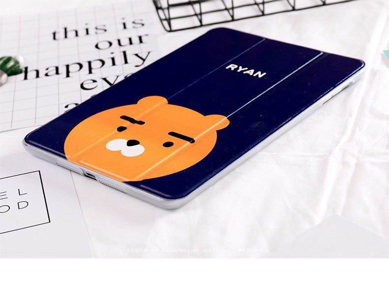 ipad pro 9 inch case with cartoon rabbit bear peach duck pictures