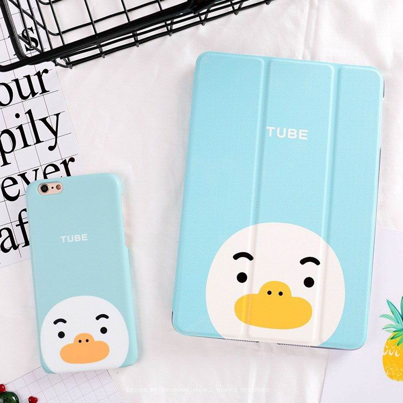 ipad pro 9 inch case with cartoon rabbit bear peach duck pictures duck: