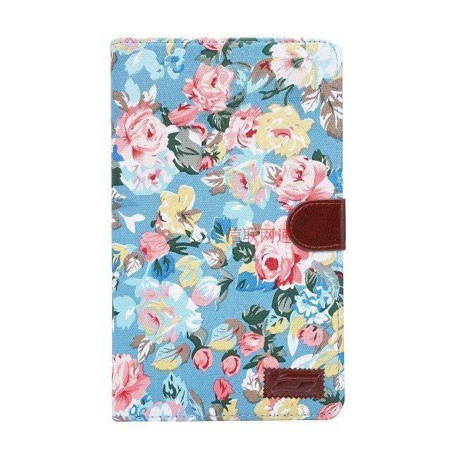 galaxy tab e 8 0 case with flower pattern of fabric samsung galaxy tab e 8 0 sm t377 blue: