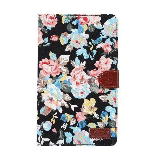 galaxy tab e 8 0 case with flower pattern of fabric samsung galaxy tab e 8 0 sm t377 black:
