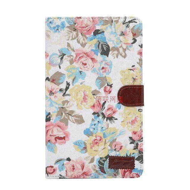 case with flower pattern of fabric samsung galaxy tab e 8 0 sm t377 00