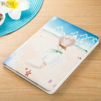 Case with flower girl picture for iPad Mini 1, iPad Mini 2, iPad Mini 3, iPad Mini 4, iPad Air 1, iPad Air 2, iPad 2, iPad 3, iPad 4, iPad Pro 9.7 inch