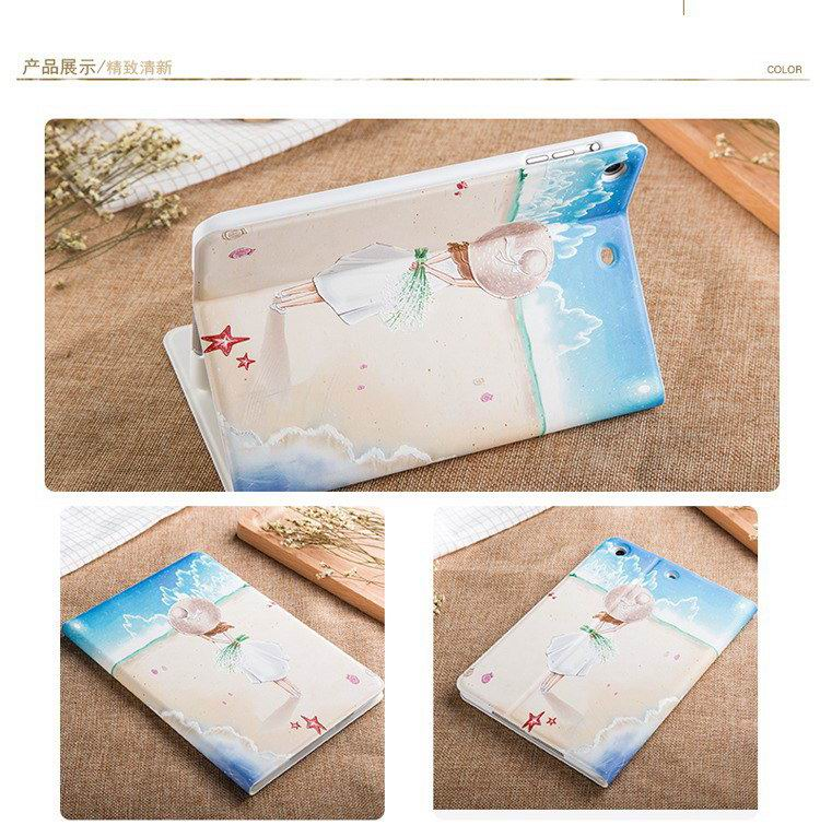ipad mini 4 case with romantic theme of beach girl