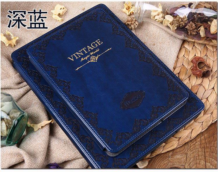 ipad pro 9 inch case with vintage ornament 2 blue: