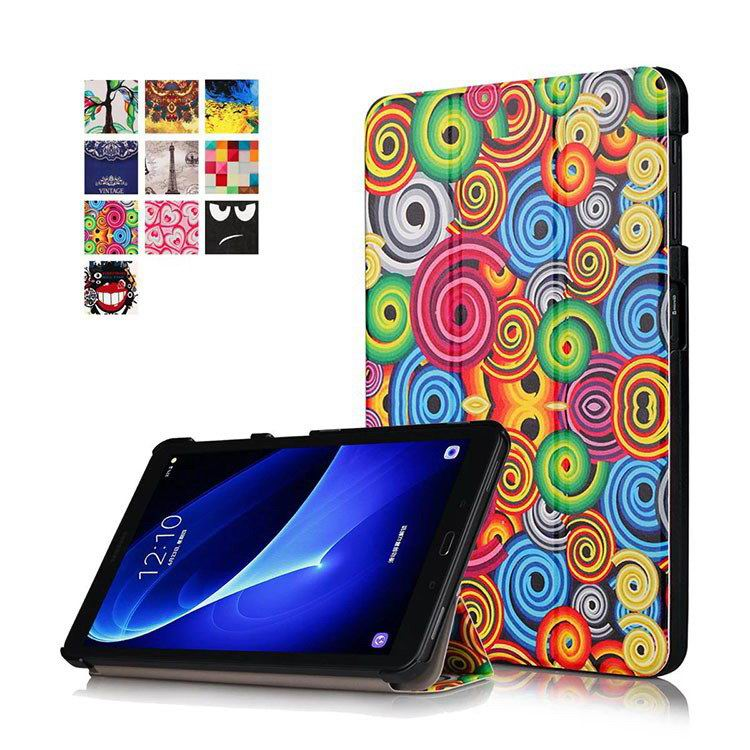 galaxy tab a 10 1 2016 colorful cases with bright patterns pictures Colorful swirling spiral: