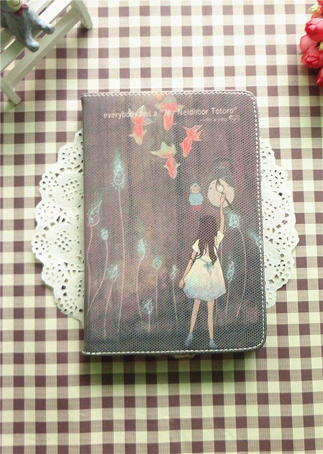 cute case with pictures of girl heart fish and other Painting girl: