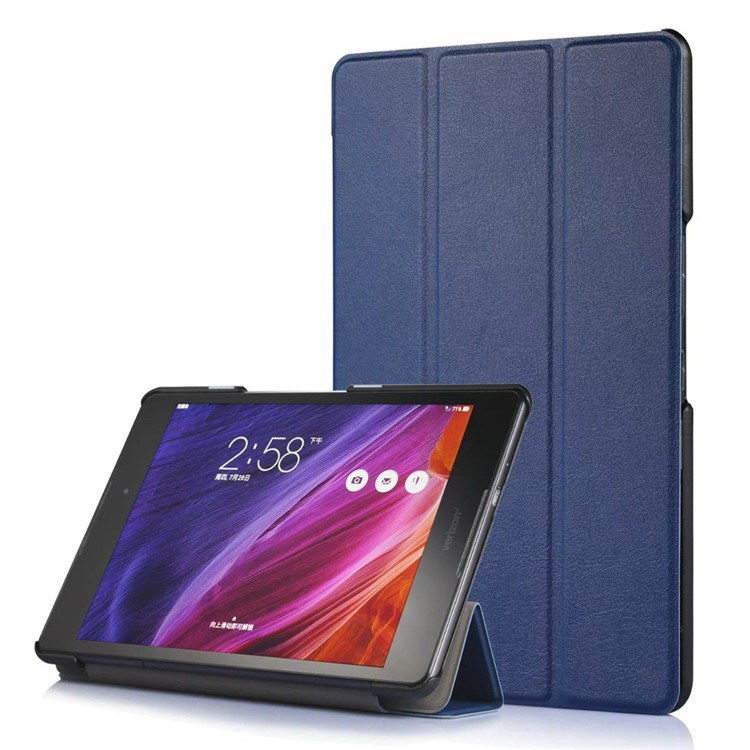 zenpad z8 fashion thin cases business style and multicolor pattern Dark blue: