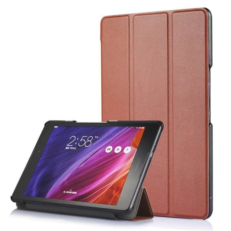 zenpad z8 fashion thin cases business style and multicolor pattern Dark brown: