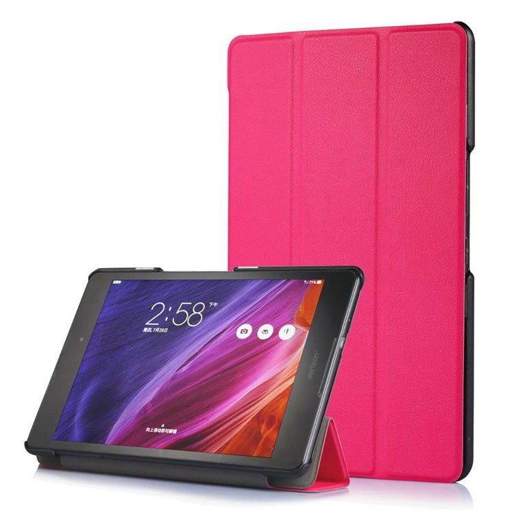 zenpad z8 fashion thin cases business style and multicolor pattern Rose red: