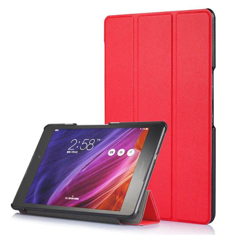 zenpad z8 fashion thin cases business style and multicolor pattern Red: