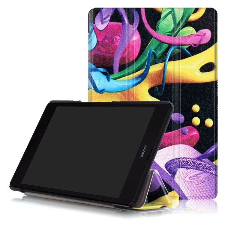 zenpad z8 protective cases cartoon illustrations Colorful shoes(gift):