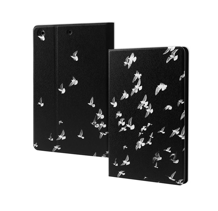 ipad pro 9 inch black white case with birds picture 2