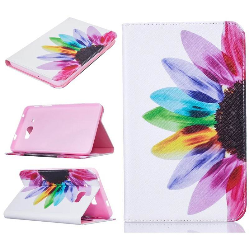 galaxy tab j bright case with a picture of butterflies flowers animals and other Red orange sunflower: