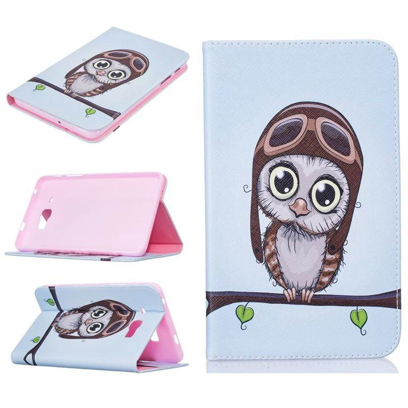 galaxy tab j bright case with a picture of butterflies flowers animals and other Orange owl: