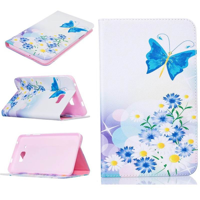 galaxy tab j bright case with a picture of butterflies flowers animals and other A pale yellow purple butterfly: