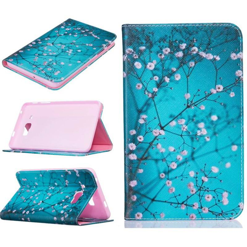 galaxy tab j bright case with a picture of butterflies flowers animals and other Rose red plum:
