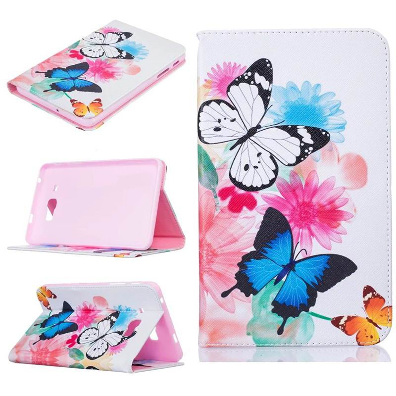 galaxy tab j bright case with a picture of butterflies flowers animals and other Pinkish grey two butterflies: