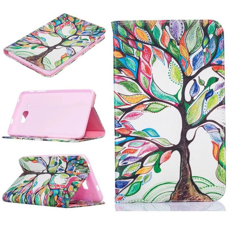 galaxy tab j bright case with a picture of butterflies flowers animals and other Wine red joy tree: