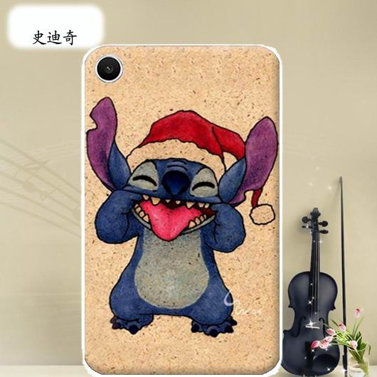 mediapad t1 70 plus bright case with a picture of flowers hearts animals and cartoon heroes Stitch: