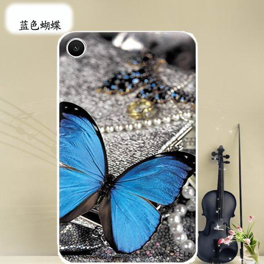 mediapad t1 70 plus bright case with a picture of flowers hearts animals and cartoon heroes Blue butterfly: