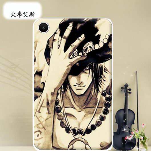 mediapad t1 70 plus bright case with a picture of flowers hearts animals and cartoon heroes Fire fist ACE: