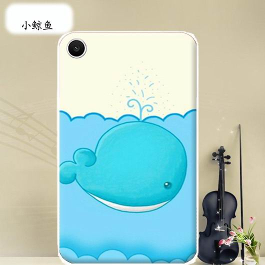 mediapad t1 70 plus bright case with a picture of flowers hearts animals and cartoon heroes Little whale: