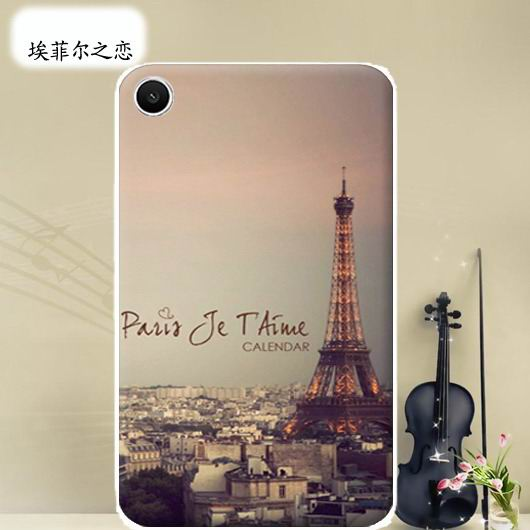 mediapad t1 70 plus bright case with a picture of flowers hearts animals and cartoon heroes Eiffel of love: