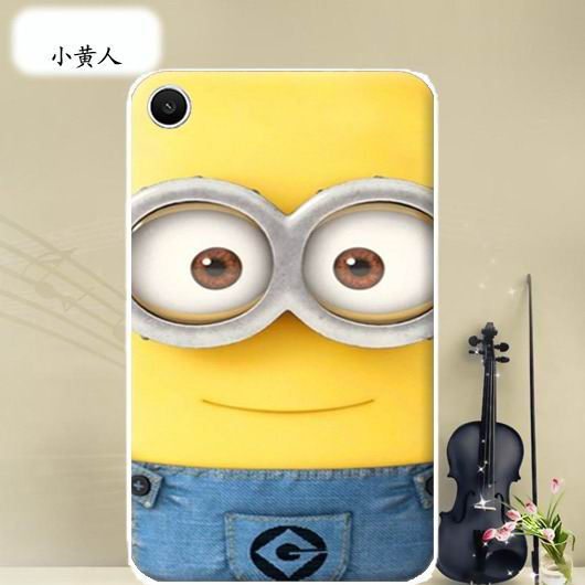 mediapad t1 70 plus bright case with a picture of flowers hearts animals and cartoon heroes Minion: