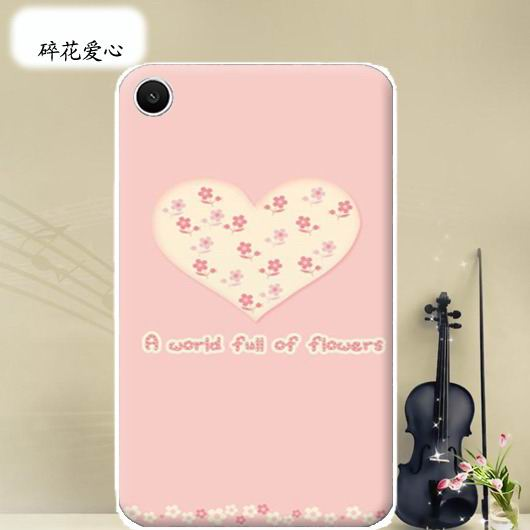 mediapad t1 70 plus bright case with a picture of flowers hearts animals and cartoon heroes Floral love: