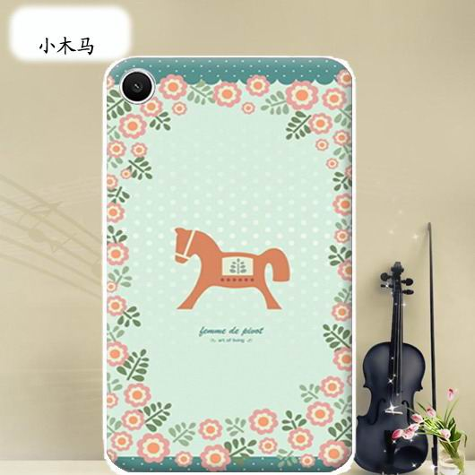 mediapad t1 70 plus bright case with a picture of flowers hearts animals and cartoon heroes Small Trojan: