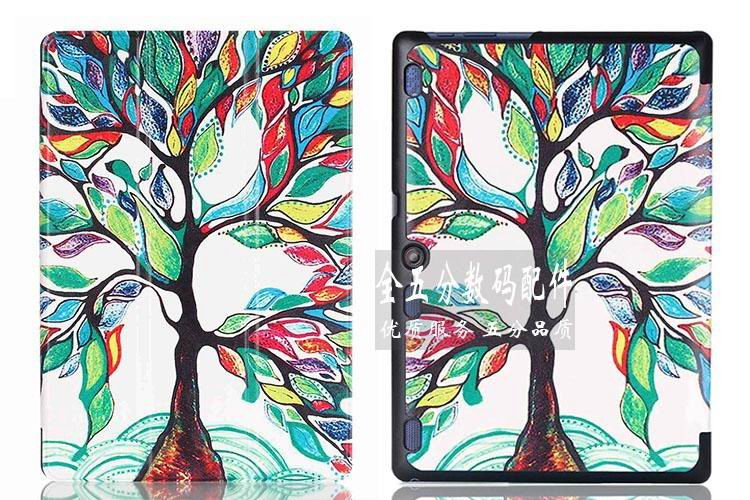 tab3 10 bright painted case Happy tree: