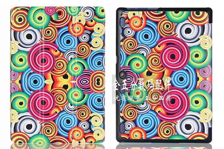 tab3 10 bright painted case Colorful swirling: