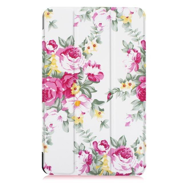 galaxy tab e 8 0 bright painted case with different pictures Peony flower:
