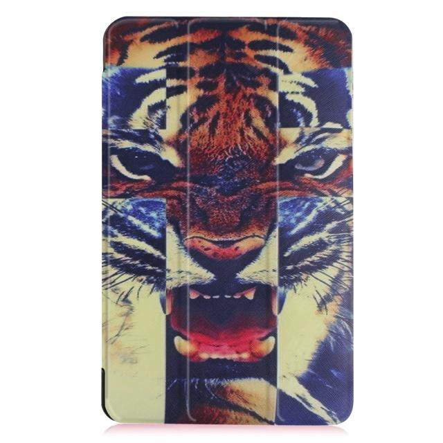 galaxy tab e 8 0 bright painted case with different pictures Discoloration of the tiger: